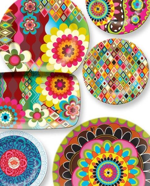 10 ways to bring color into your home this summer - Melamine Dishes