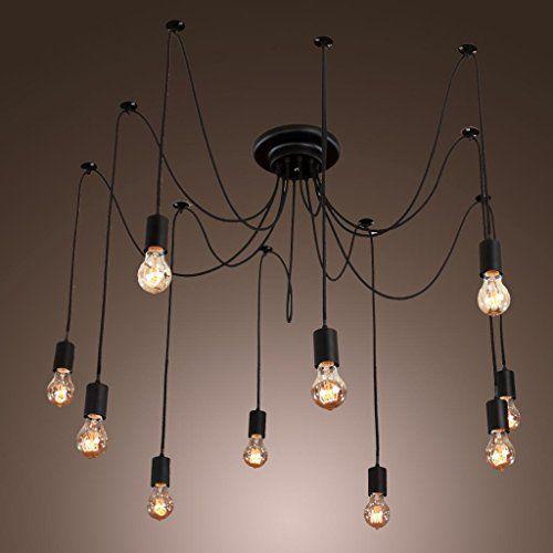 Ceiling Lights & Fans Lights & Lighting E27 8arms Antique Classic Ajustable Diy Ceiling Spider Lamp Light Retro Chandelier Pendant Dining Hall Bedroom