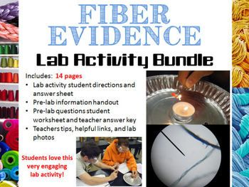 forensic science fiber evidence analysis lab activity bundle forensic science forensic. Black Bedroom Furniture Sets. Home Design Ideas