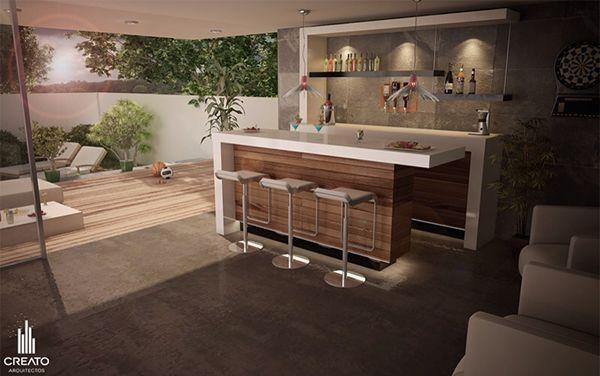 Bar De Terraza Moderno Bar En Casa Diseño De Barra De Bar