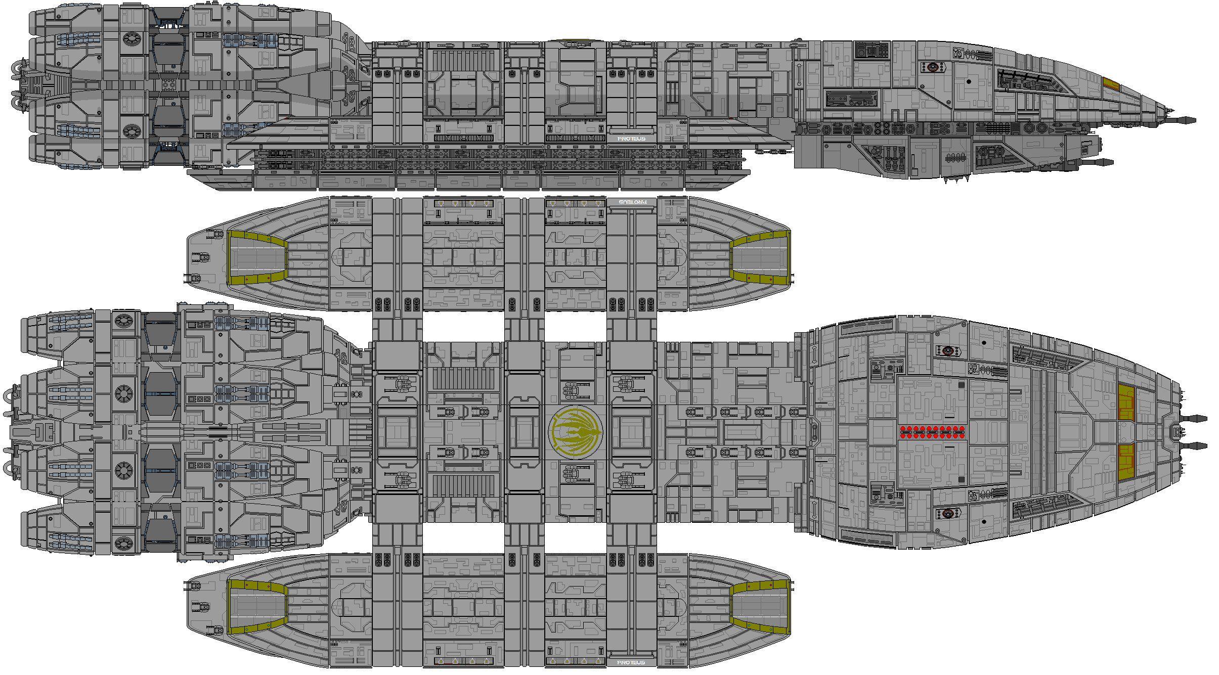 Battlestar Proteus by kavinveldar on DeviantArt