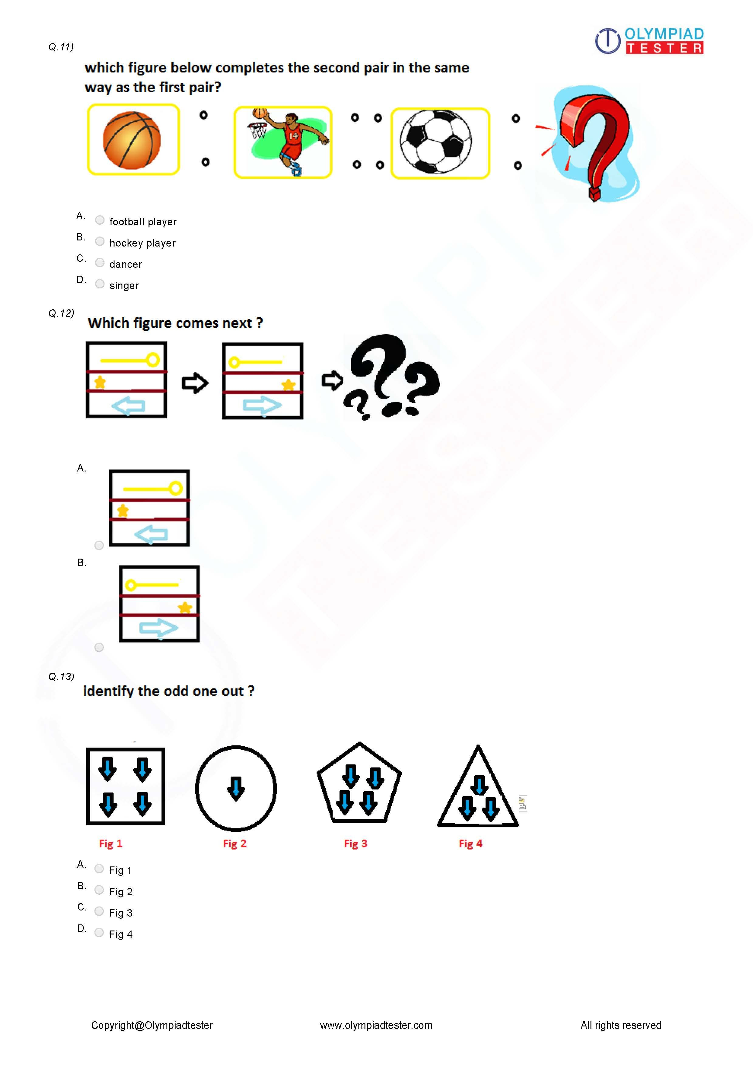 Class 3 Logical Reasoning Worksheet 04
