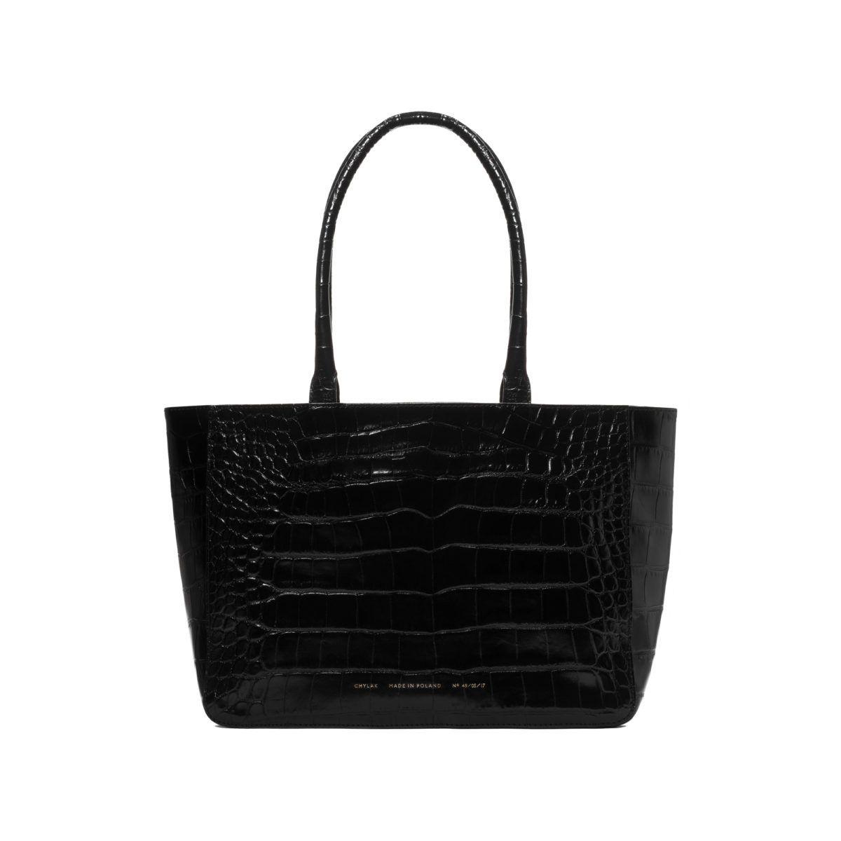 """b16603b04 Shopper """"glossy black crocodile"""" - Chylak Shopper Bag, Tote Bag, Work Bags"""