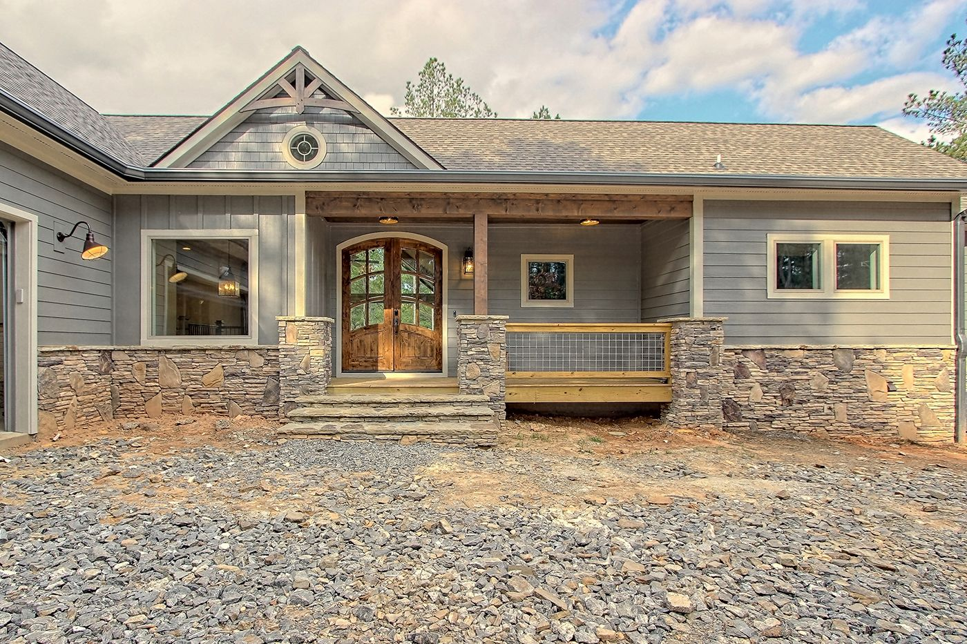 Craftsman Home On Stables Loop Front Exterior Entry Craftsman House Custom Homes Home