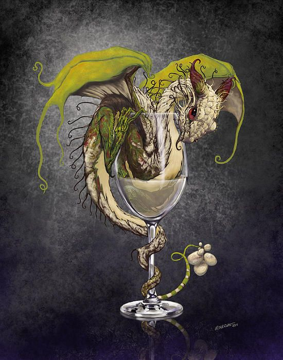 White wine dragon prints cards more by Stanley Morris