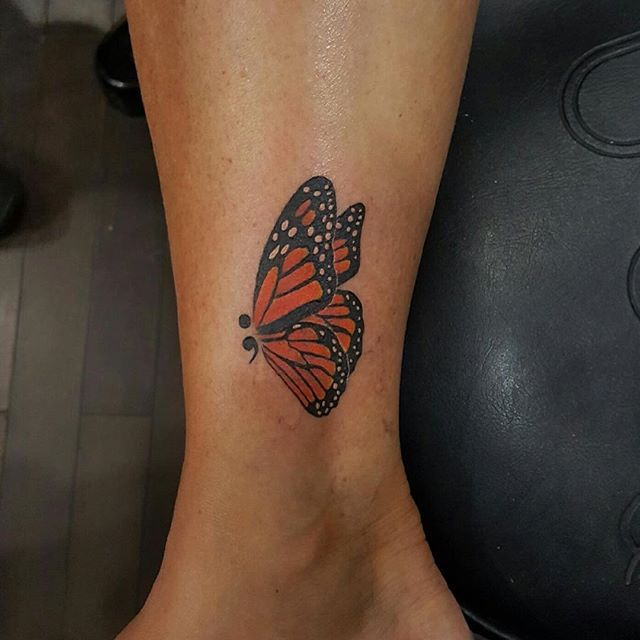 aba2b0ede We are loving this butterfly by Nick with a semicolon adding to the design!  Check