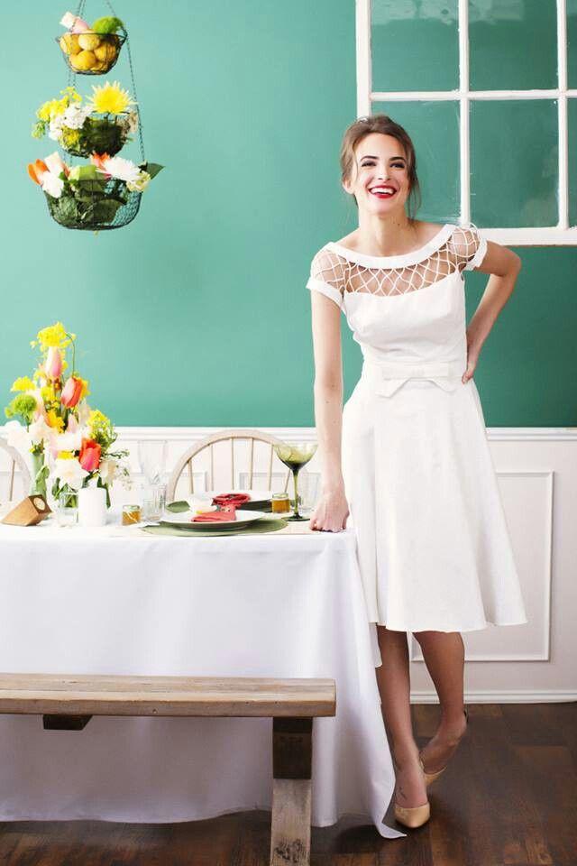 wedding # brunch #shortweddingdress | Wedding | Short wedding ...
