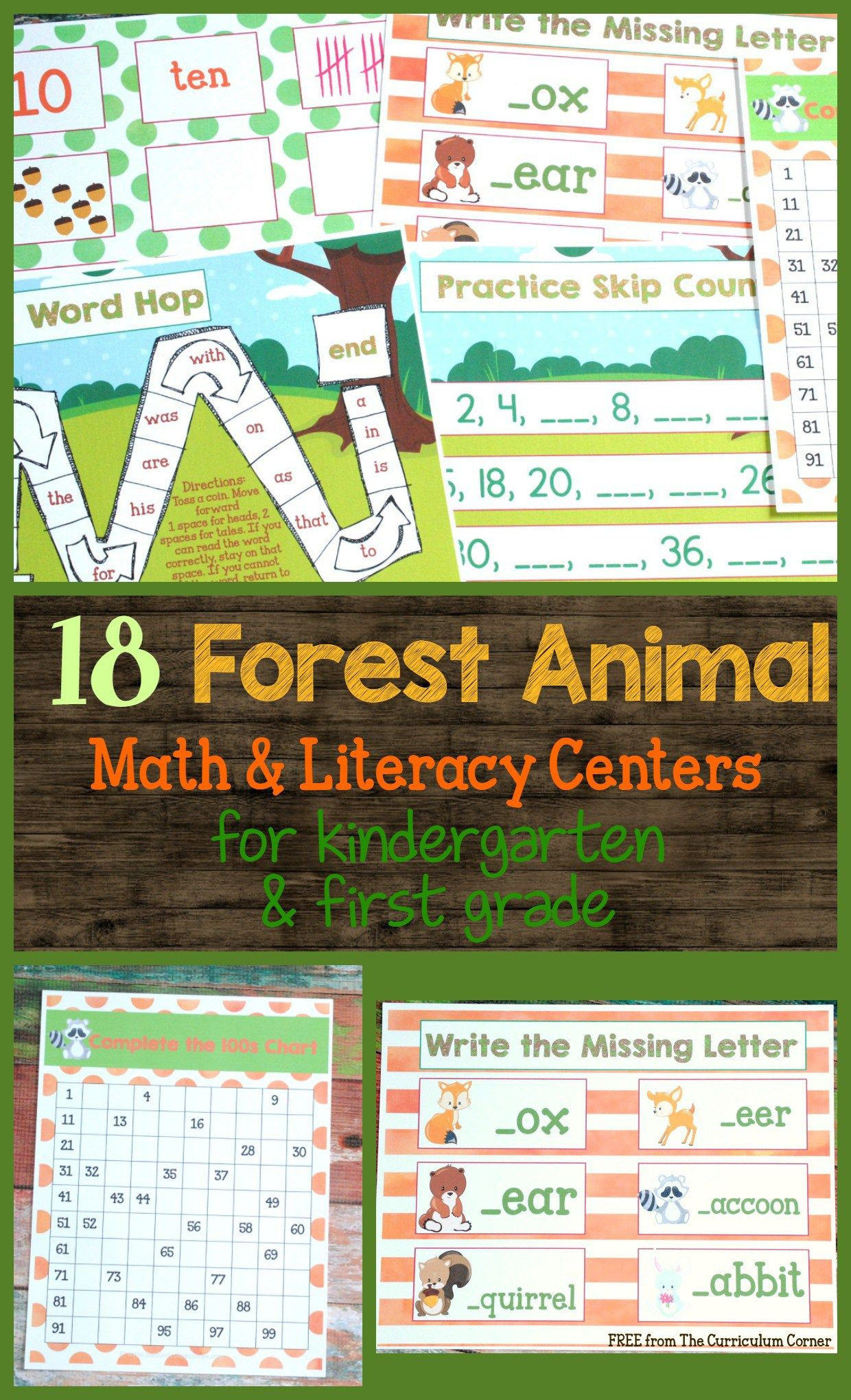 Forest Animals Math Amp Literacy Centers