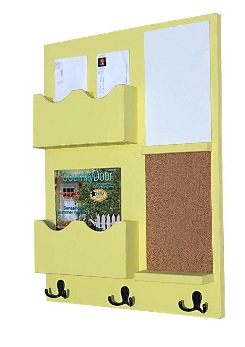 Message Center - Mail Organizer - Cork Board - White Board - Key ...
