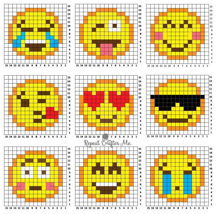 Crochet Emoji C2c Graphgan Pixel Crochet Emoji Patterns