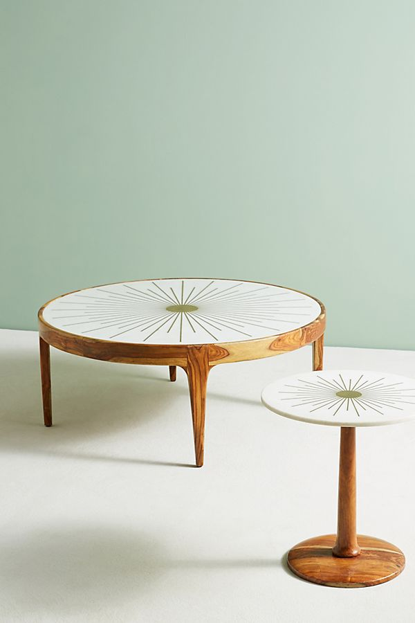 Brass Starburst Side Table Coffee Table Round Coffee Table