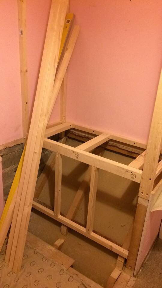 Bed Over Stair Box With Storage And Stairs: Step 4: Building A Frame.