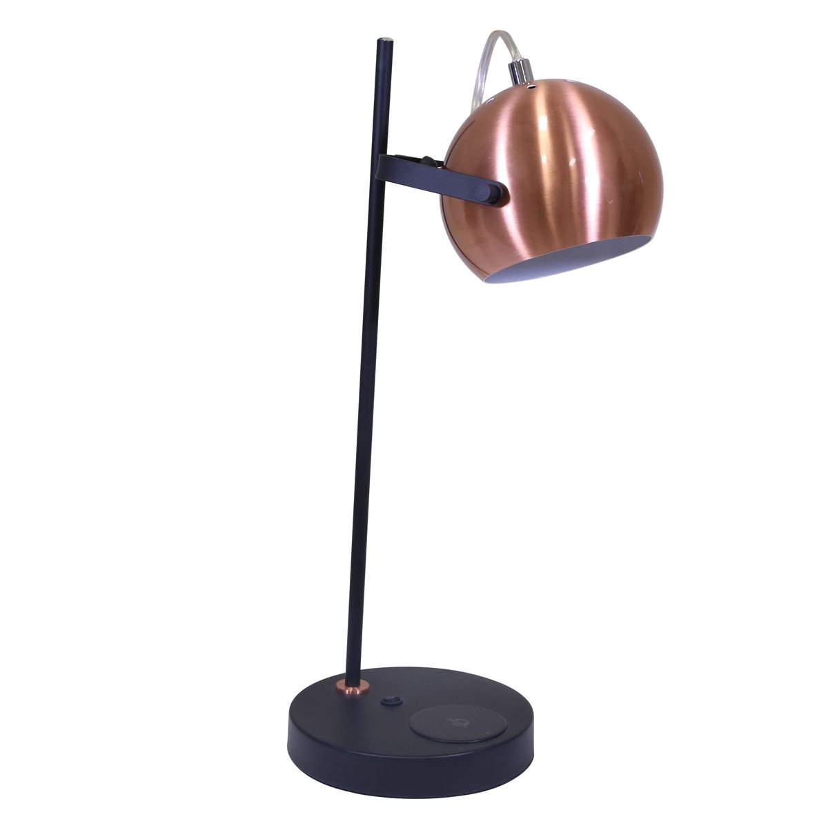 Copper Matte Black Desk Lamp With Usb Wireless Charger Sagebrookhome Www Sagebrookhome Com Lamp Lighting Black Desk Lamps Lamp Task Lamps