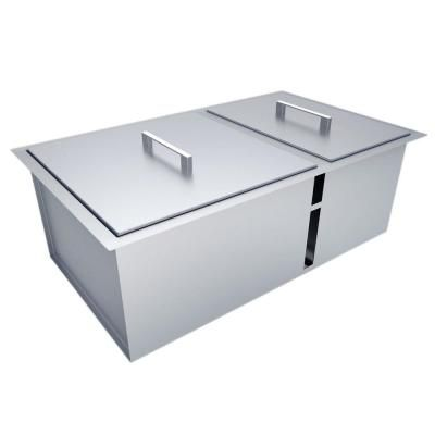 Sunstone Over Under 34 In X 12 In Height Double Basin Sink With Covers B Sk34 The Home Depot Double Basin Sink Basin Sink Double Basin