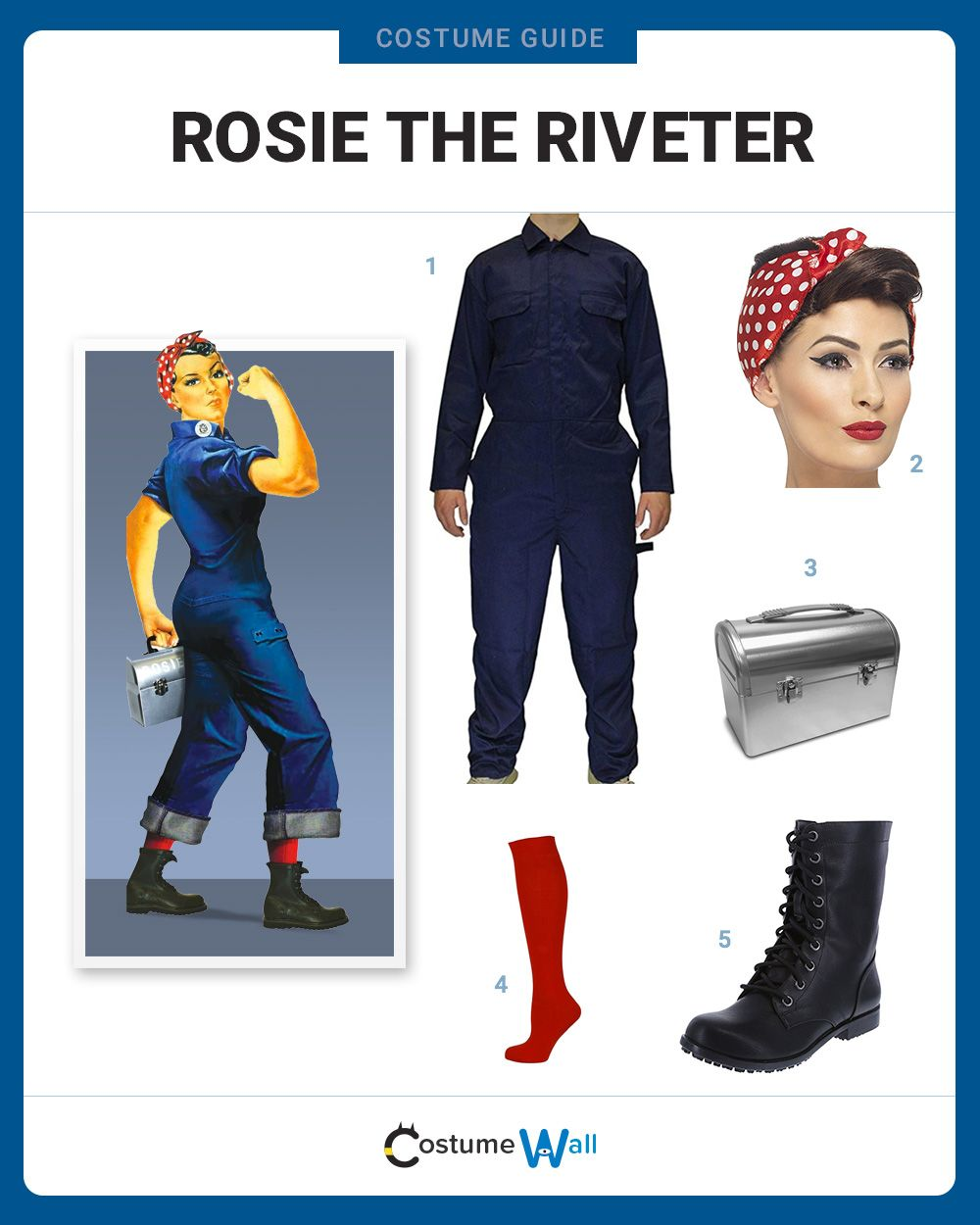 Brand New 1940/'s Rosie the Riveter Child Costume