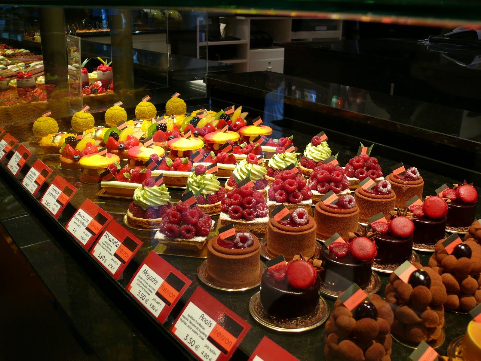 Very beautiful patisserie display