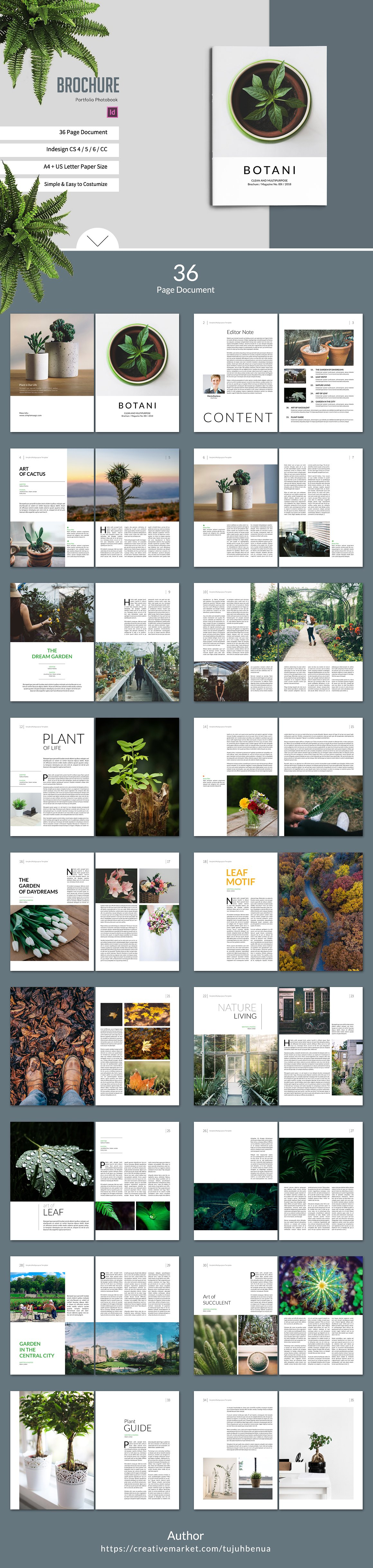 Botani LookbookMagazine  Brochures Photobook Template