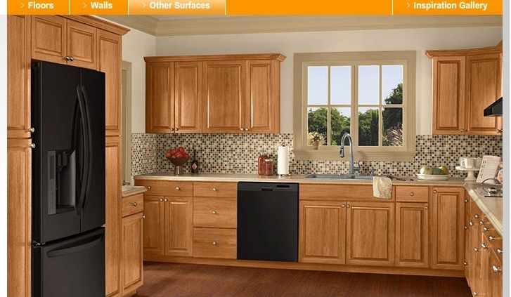 Kitchen Flooring Oak Cabinets
