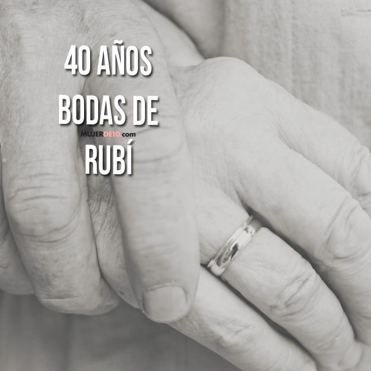 Ruby 40th Paquete De Decoración Fiesta Aniversario de Bodas Pancartas y guirnaldas Artículos de fiesta
