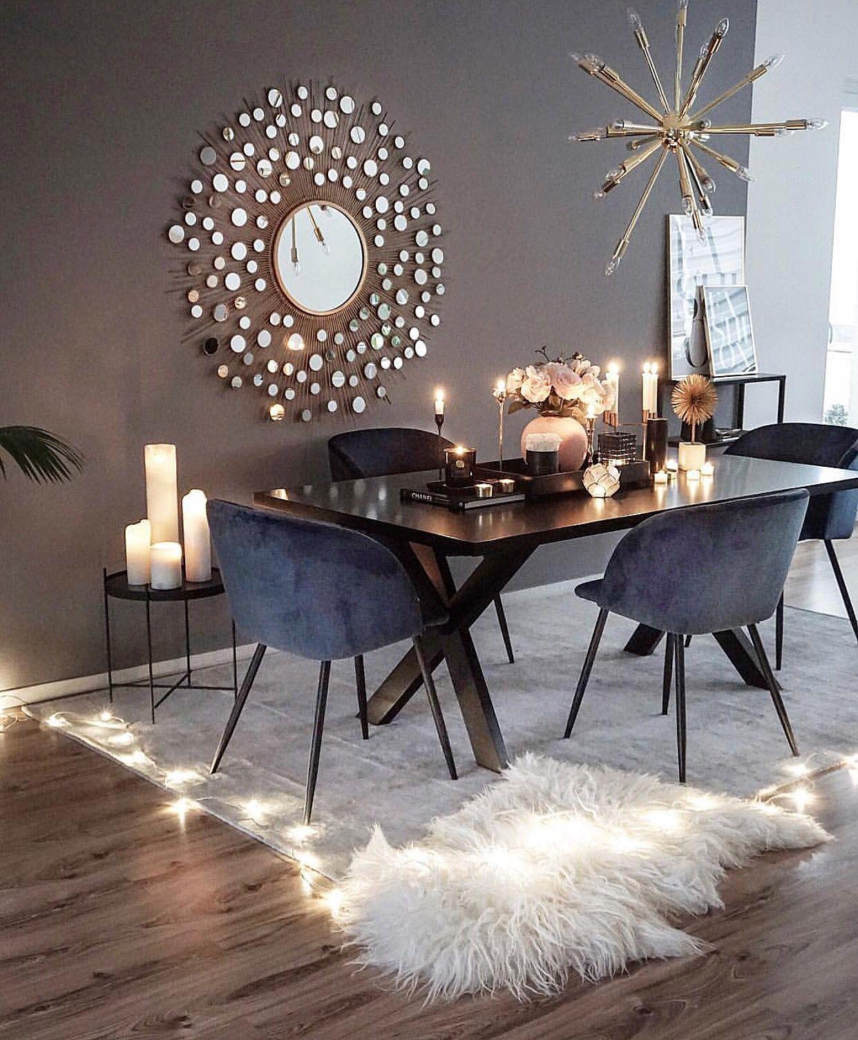 Dark blue and grey Dining Room