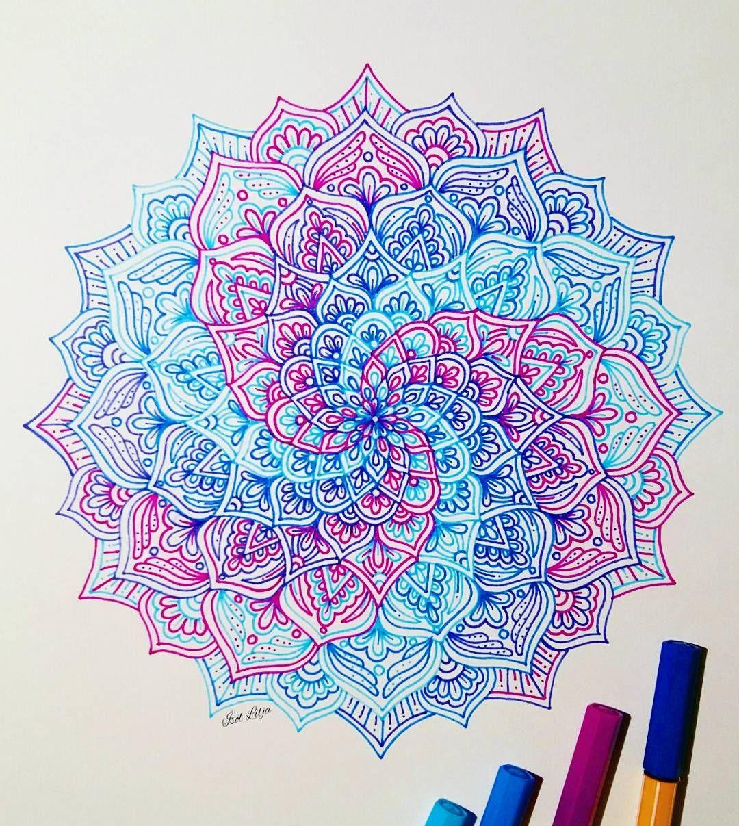 Day 10 of inktober2016 💙 Art tutorials, Mandala art