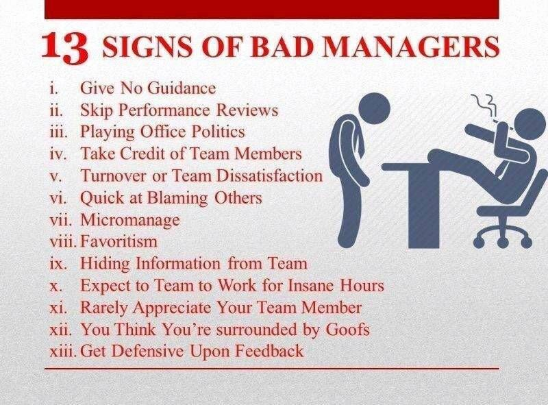 13 Signs of bad management Good job quotes, Job quotes