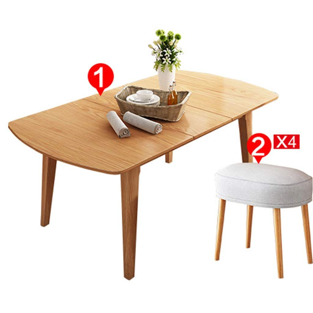 Coffee Table Modern Wooden Dining Telescopic Rectangle