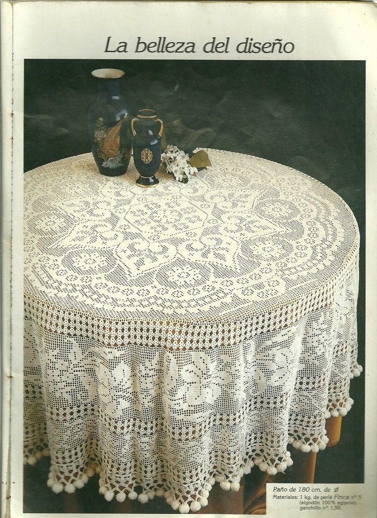 digitalizar0013.jpg   Crochet   Pinterest   Mantel redondo y Mantel