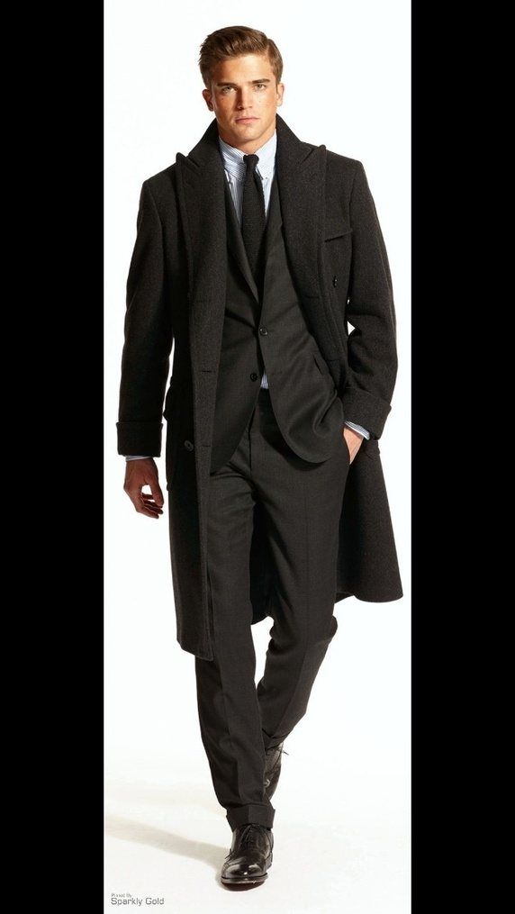 8dd5ce45ae What color of overcoat goes well with black suit  - Quora