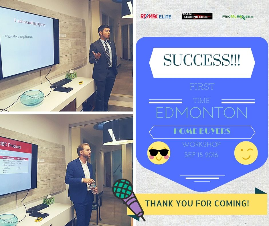 EDMONTON FIRST TIME HOME BUYER WORKSHOP