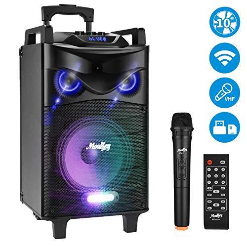 Moukey 520 Watt Outdoor Portable Bt Connectivity Karaoke Speaker System Best Offer Instrumentstogo Com In 2020 Karaoke Speaker Speaker Speaker System