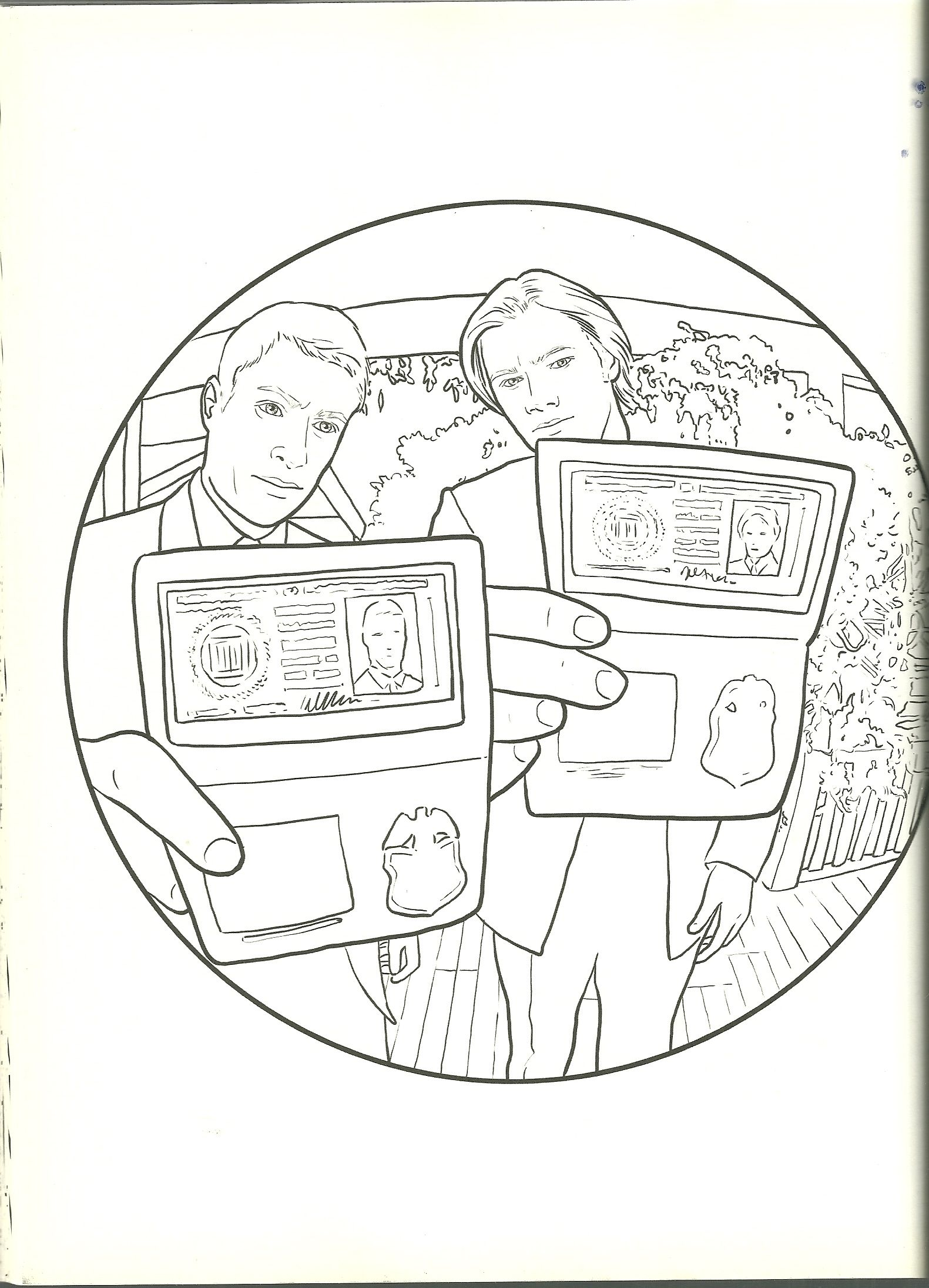 Sam And Dean Supernatural Coloring Page Coloring Pages Coloring Books Color