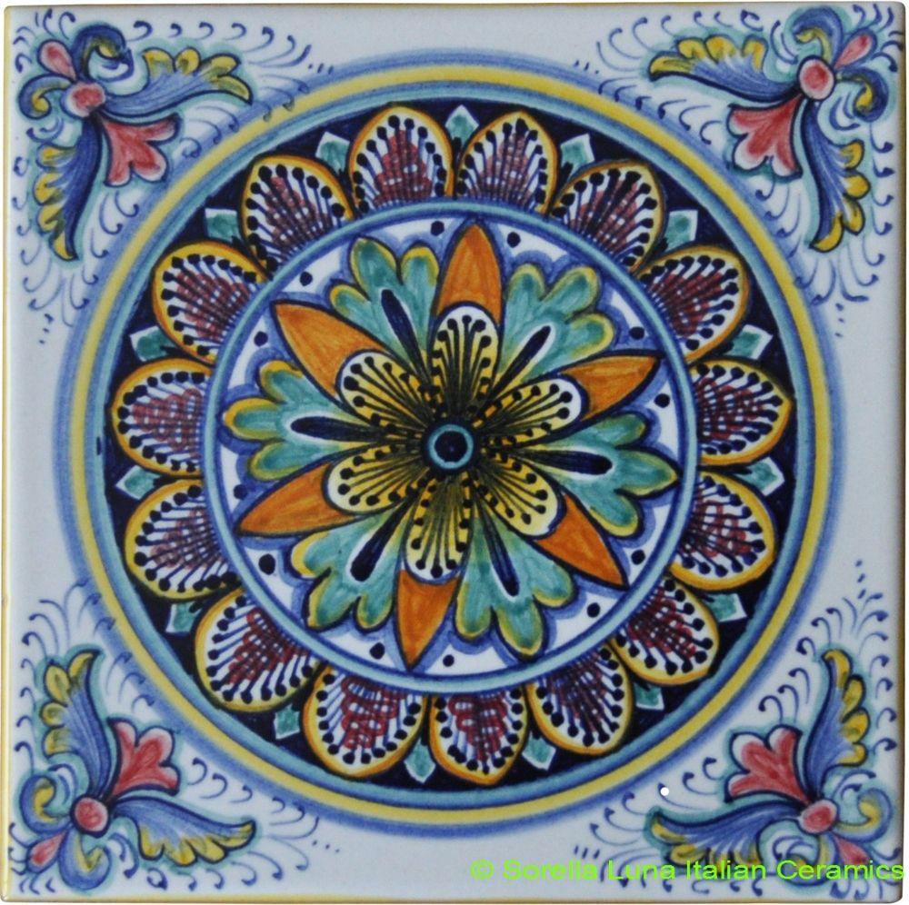 hand painted italian ceramic tiles | italian ceramics | pinterest