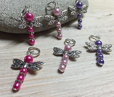 SNAG FREE Beaded Dragonfly Knitting Stitch Markers