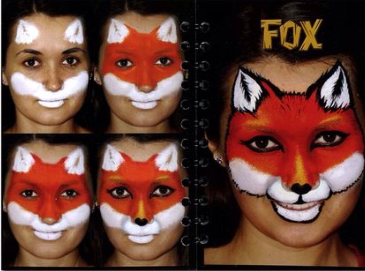 Uncategorized Step By Step Face Painting fox face painting design paint tutorials pinterest designs and paintings