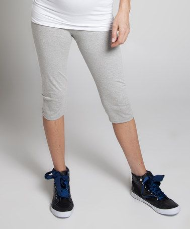 Loving this Gray Marl Wok It Maternity Leggings - Women on #zulily! #zulilyfinds