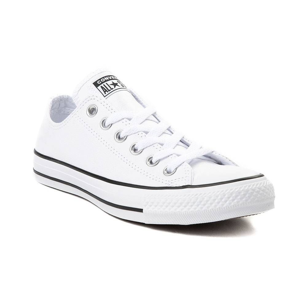 Converse Chuck Taylor All Star Lo Leather Sneaker White In 2021 White Leather Converse Converse Leather Shoes Leather Converse