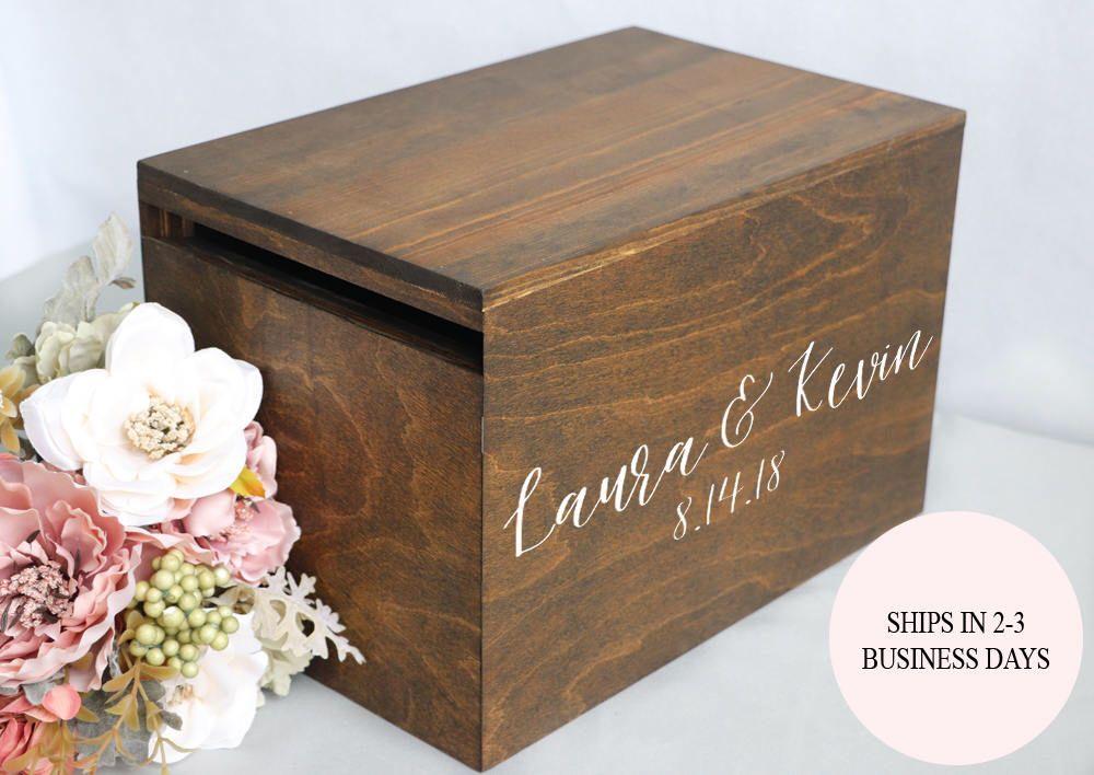 wedding card box wedding card holder wedding money box rustic wedding box