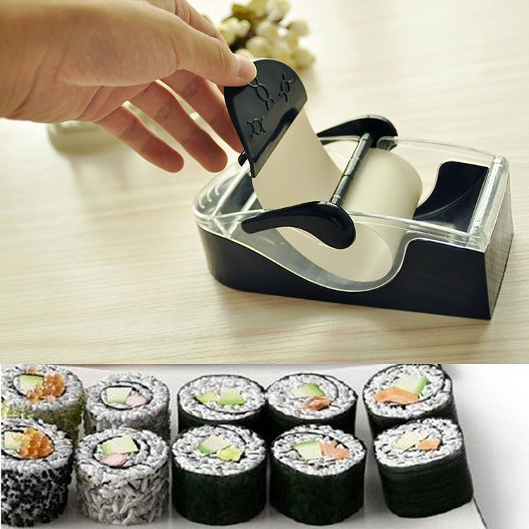 DIY Easy Kitchen Perfect Magic Roll Sushi Maker Cutter