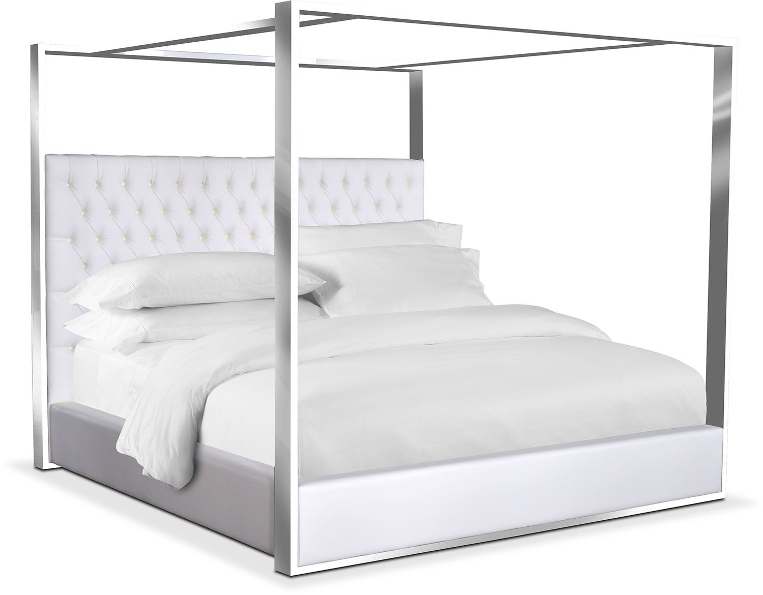 Bedroom Furniture - Presley King Canopy Bed - White  sc 1 st  Pinterest & Bedroom Furniture - Presley King Canopy Bed - White | Made to Mix ...