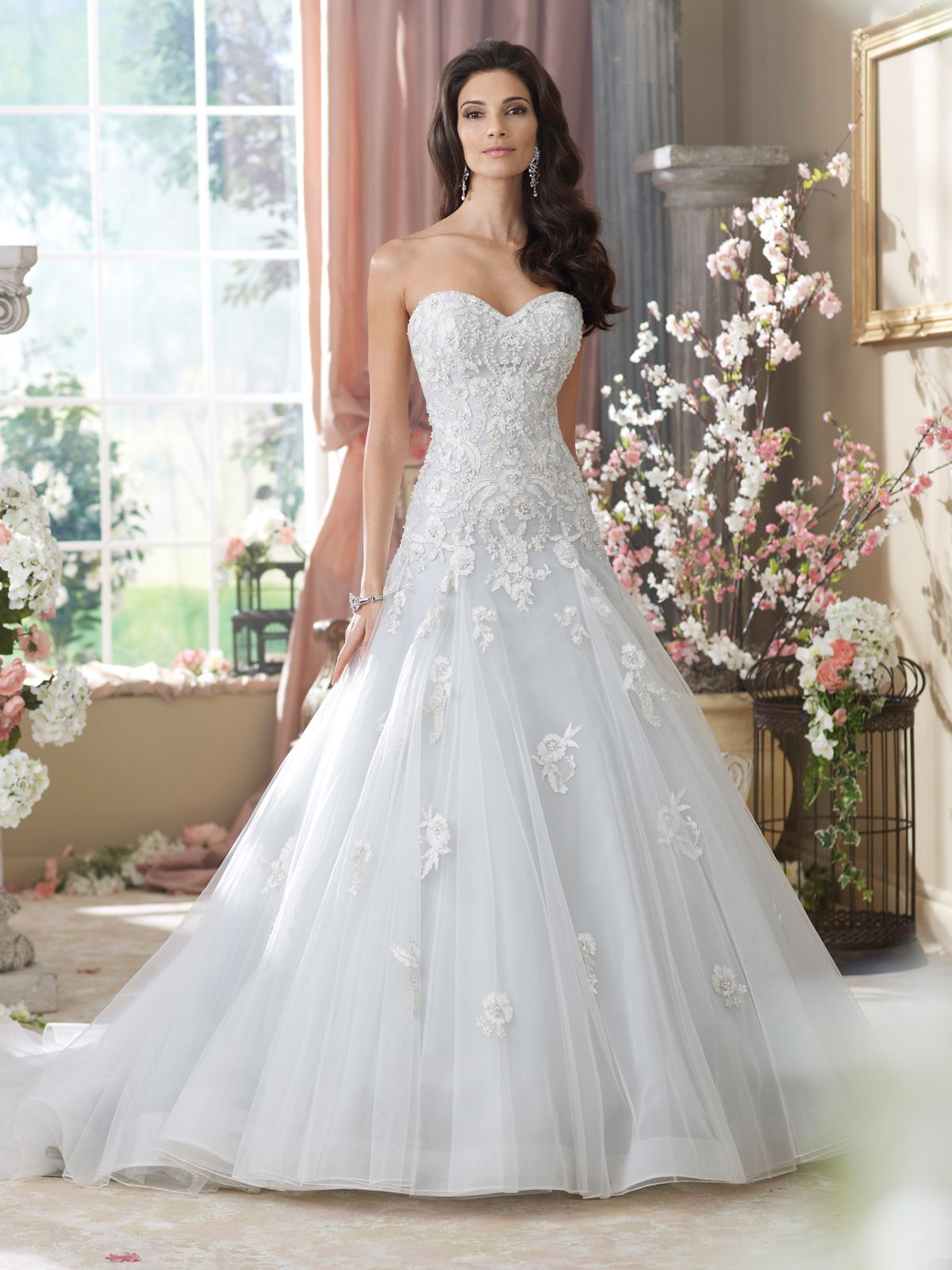 Style No 214212 » David Tutera For Mon Cheri Wedding Dresses 2014 And Bridal Gowns: Taffeta Lace Wedding Dress Look No At Reisefeber.org
