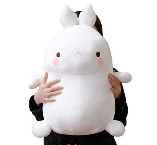 "Molang Bunny Rabbit 24"" Doll Toy Soft Plush Cushion Figure Animal Cute Kawaii 