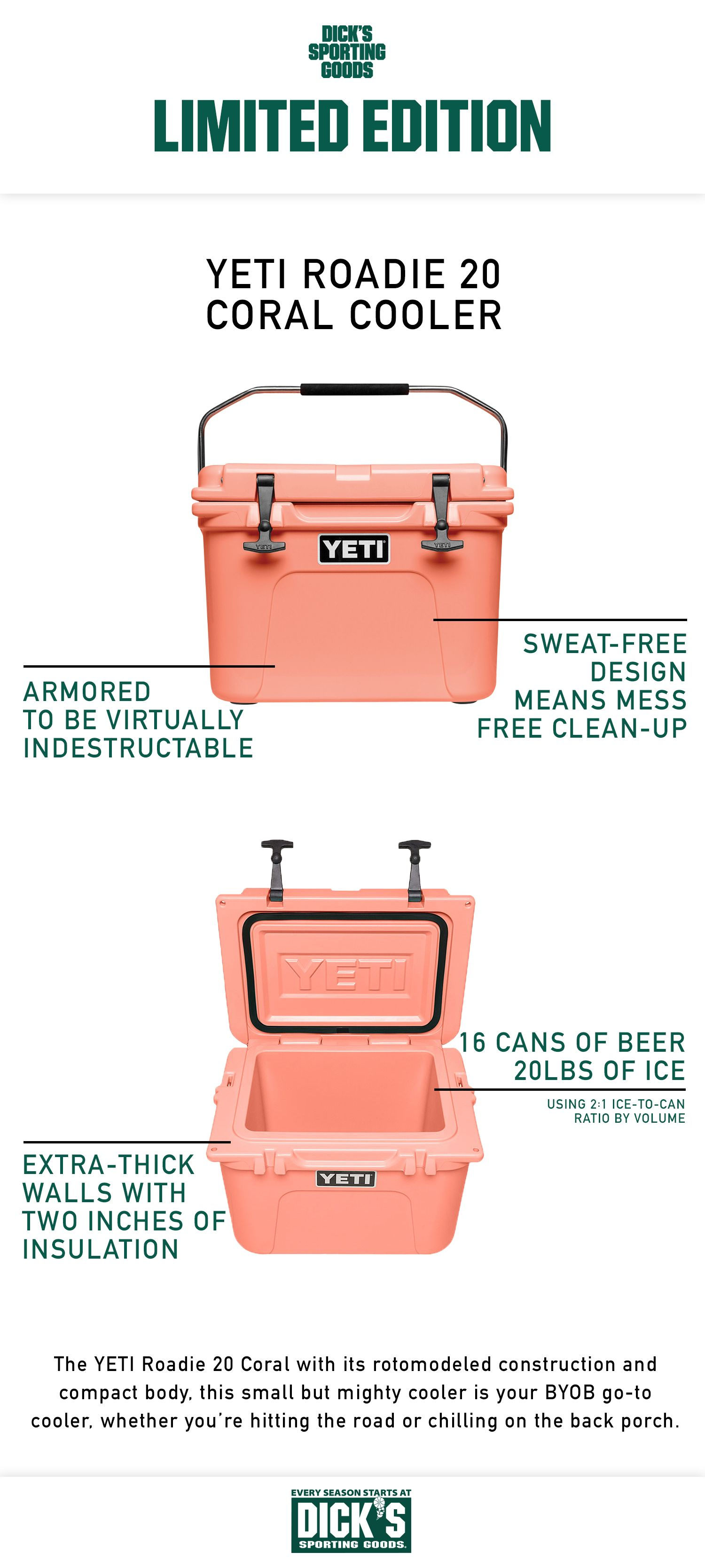 This Limited Edition Coral Roadie 20 Cooler Is The Perfect Summer Essential To Keep Your Drinks Cold From Sunrise To Sunset Whe Summer Essentials Roadies Yeti