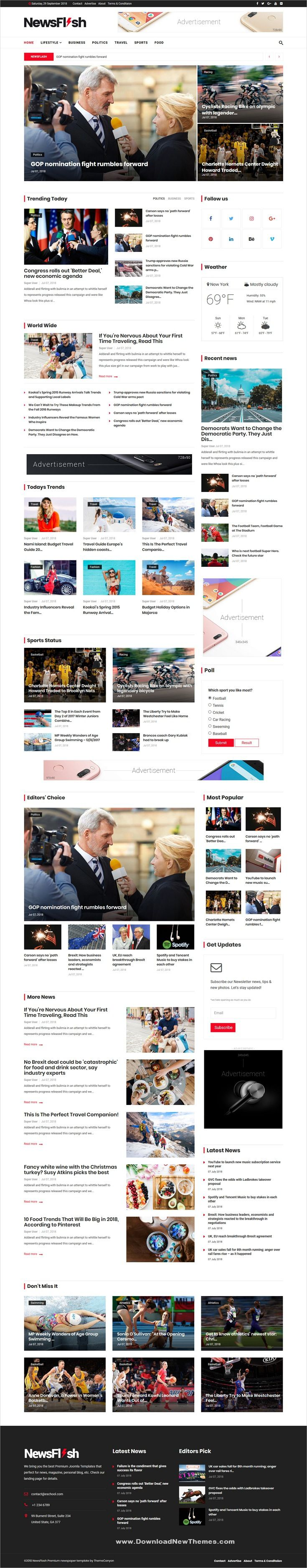 newsflash is a clean and modern design responsive joomla template