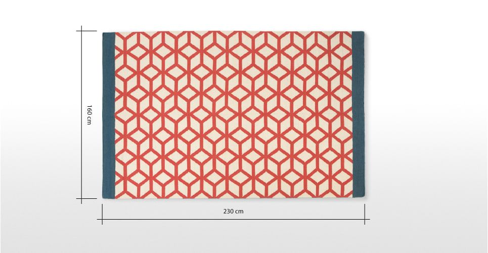 Eisa Teppich 160 X 230 Cm Rot Geo And Room
