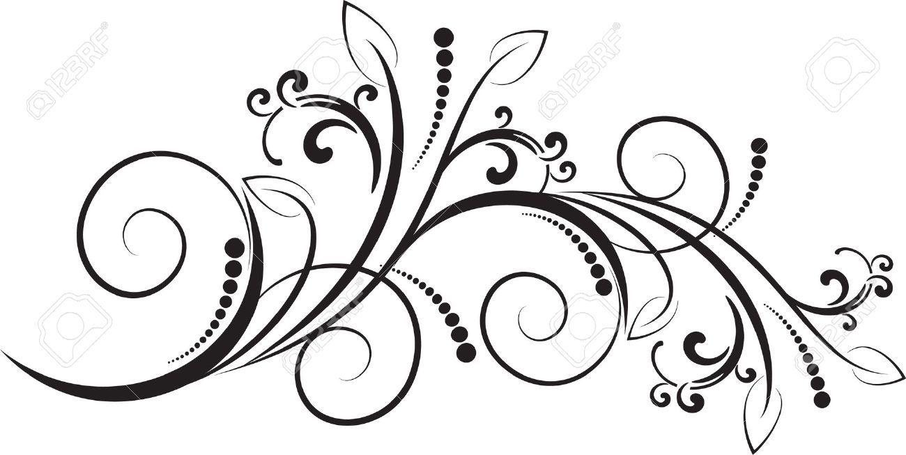 Floral swirl patterns - photo#53