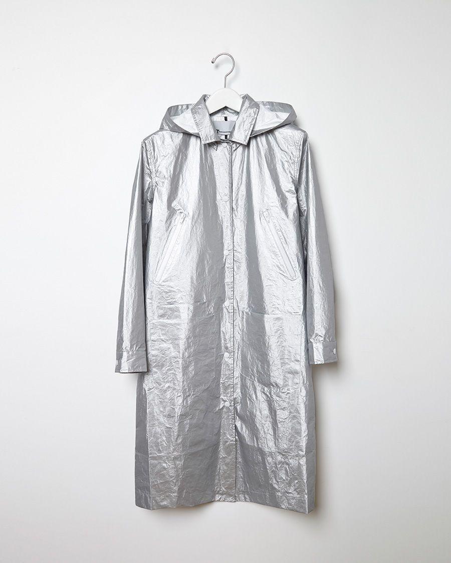 T BY ALEXANDER WANG | Laminated Tyvek Coat | Shop at La Garçonne