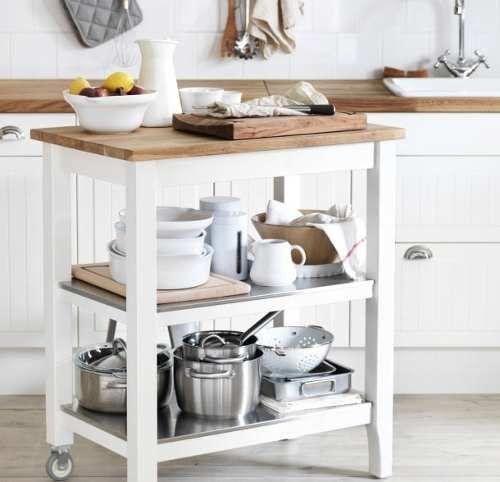 isla de cocina mesa auxiliar de cocina sin pintar   Decoración de ...