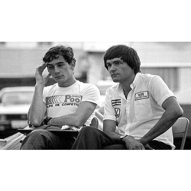 Ayrton Senna with his team boss Dick Bennetts (F3-1983)