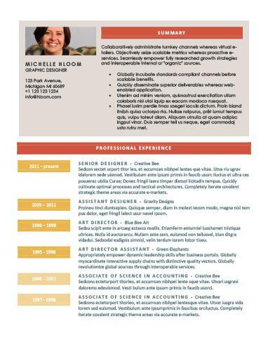 Chronological Resume by Hloom cv styles Pinterest Cv - chronological resume